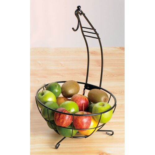 Iron Works Metalware Fruit Basket and Banana Hanger