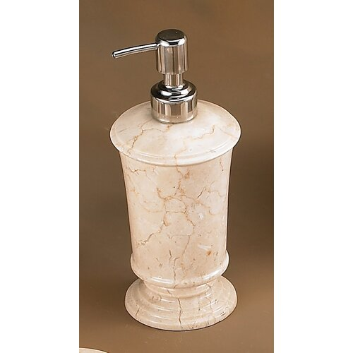 Creative Home Champagne Marble Pedestal Liquid Soap Dispenser