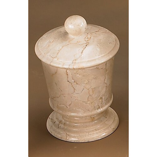 Caramel Marble Cotton Ball Holder (Set of 2)
