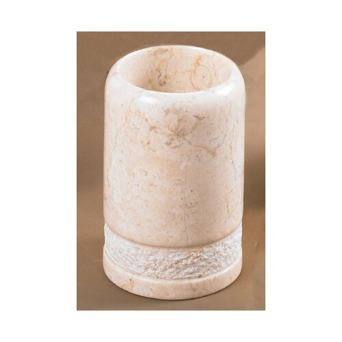 Creative Home Champagne Marble Hand Carved Tumbler