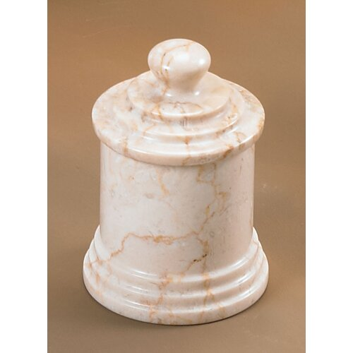 Champagne Marble Column Cotton Ball Holder