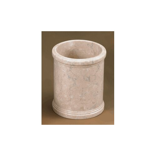 Creative Home Champagne Marble Column Waste Basket