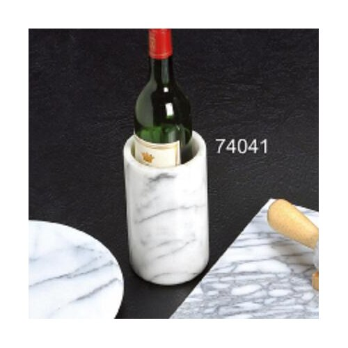 """Creative Home White Marble 6"""" Wine Cooler"""