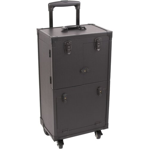 Sunrise Cases 4-Wheeled Professional Rolling Cosmetic Makeup Case