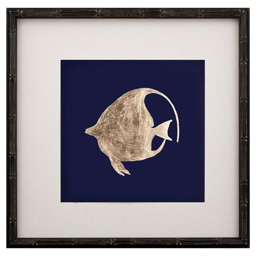 Leaf Left Facing Fish I Framed Graphic Art