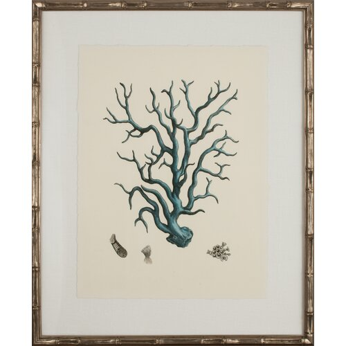 Mirror Image Home Turquoise Coral I Framed Graphic Art