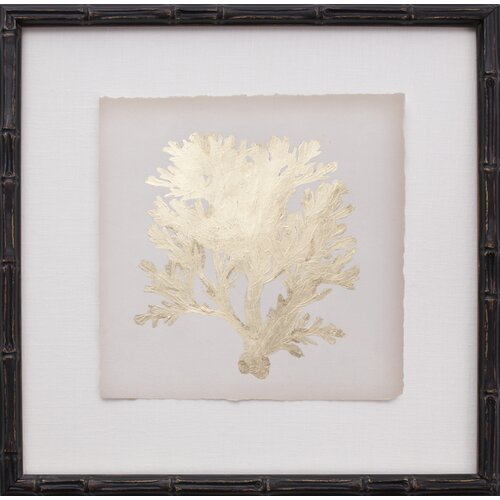 Mirror Image Home Mini Gold Leaf IV Framed Graphic Art