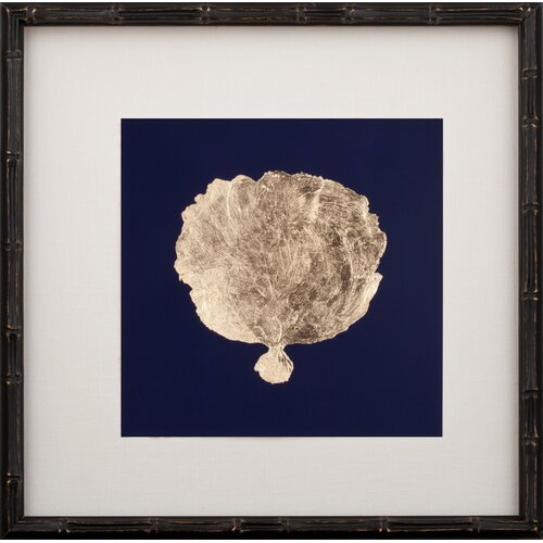 Mirror Image Home Gold Leaf Coral II Framed Graphic Art