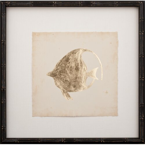 Gold Leaf Fish IV Framed Graphic Art