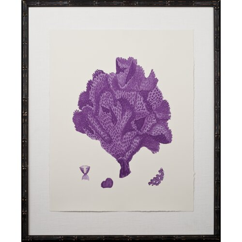 Mirror Image Home Purple Coral Giclee IV Framed Graphic Art