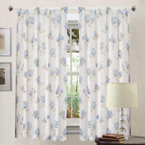 Madison Home Emily Rod Pocket Curtain Single Panel