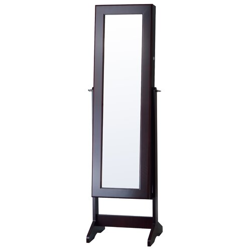 powell marquis cherry cheval jewelry armoire with mirror