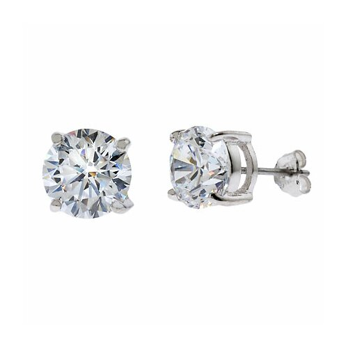Rozzato 1 CT TW cubic zirconia Diamond Stud Earrings