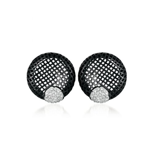 Lace Round Cubic Zirconia Earrings
