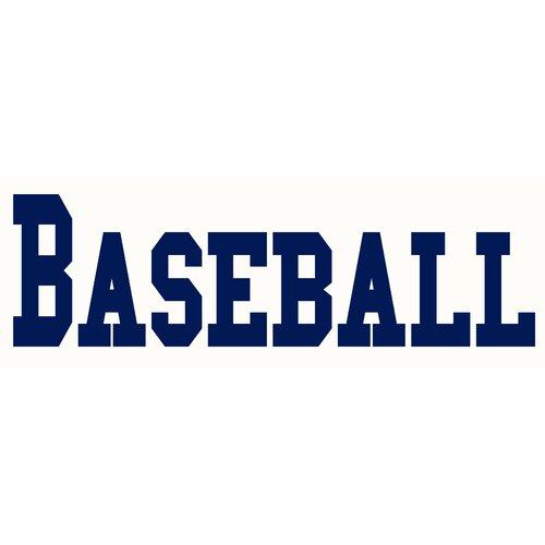 Baseball Sign Wall Decal