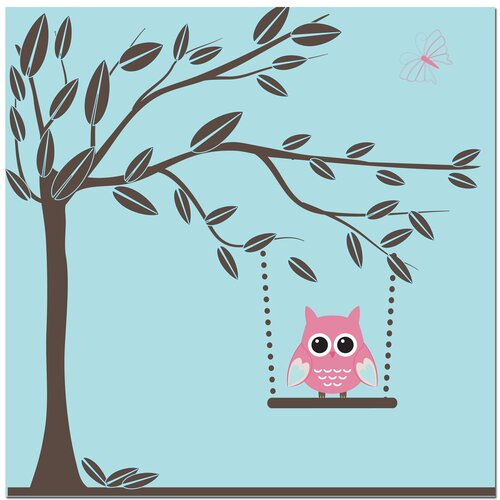 Secretly Designed Swinging Owl Canvas Art
