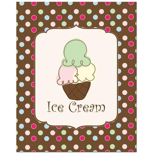 Secretly Designed Sweet Ice Cream Art Print
