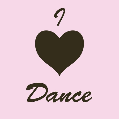 Secretly Designed I Heart Dance Wall Decal