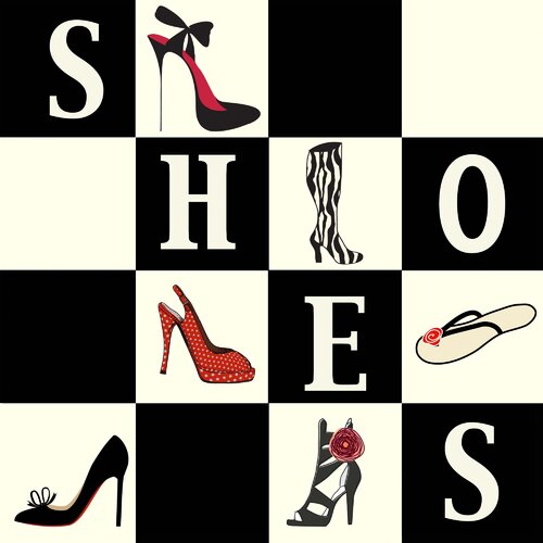 Secretly Designed Shoes Shoes Shoes Paper Print