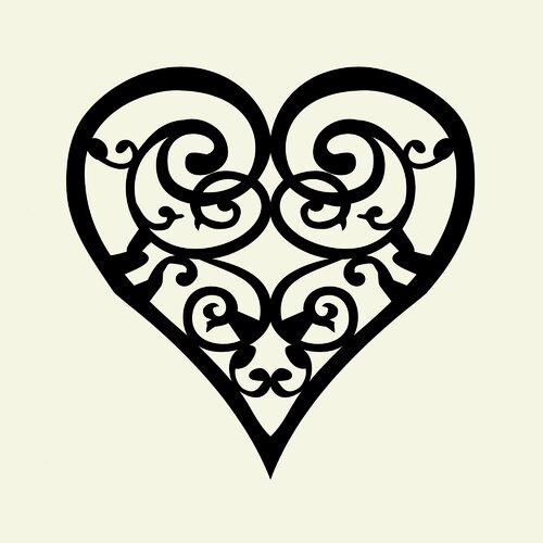 Scroll Heart Paper Print Wayfair