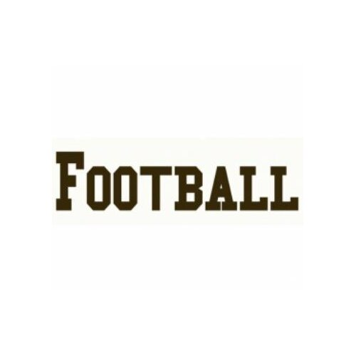 Football Sign Wall Decal