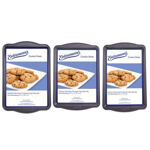 Entenmann's Bakeware Classic 3 Piece Cookie Sheet Set