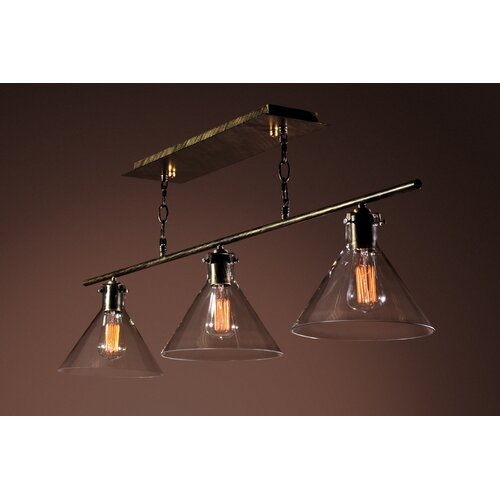 Warehouse Of Tiffany Amerie 3 Light Kitchen Island Pendant