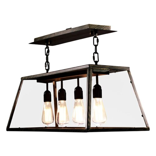 Warehouse Of Tiffany Edison 4 Light Kitchen Island Pendant