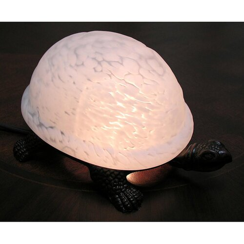 "Warehouse of Tiffany 4"" H Turtle Accent Table Lamp"