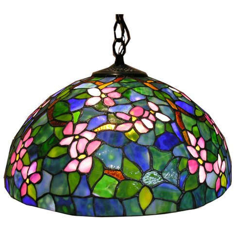 Warehouse of Tiffany Dogwood 1 Light Hanging Pendant