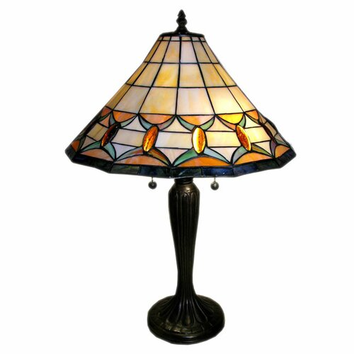 "Warehouse of Tiffany Jeweled 25"" H Table Lamp"
