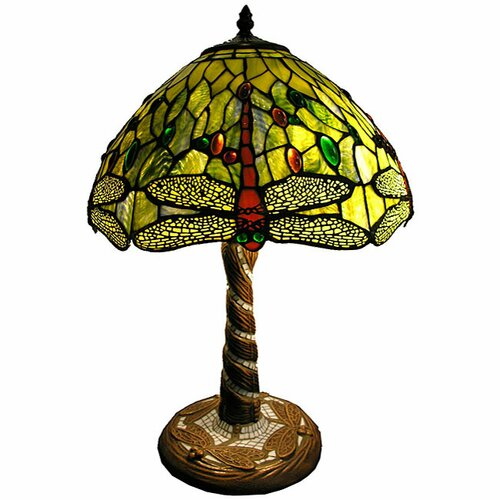 "Warehouse of Tiffany 22"" H Dragonfly Table Lamp"