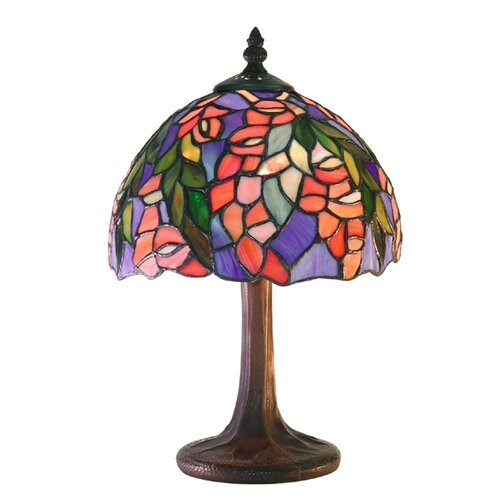 "Warehouse of Tiffany Floral 12"" H Table Lamp"