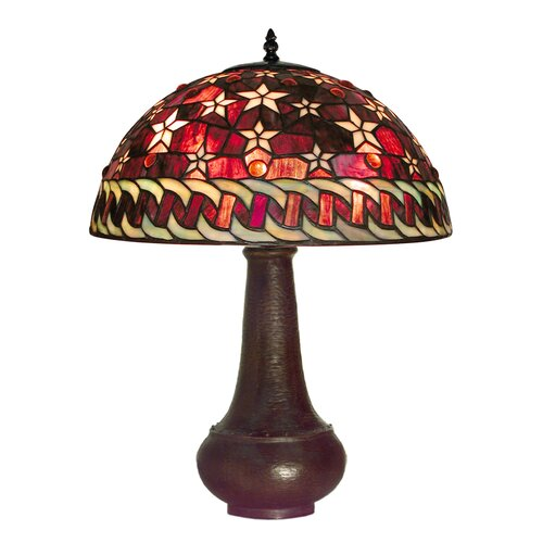 "Warehouse of Tiffany Star 29"" H Table Lamp with Bowl Shade"