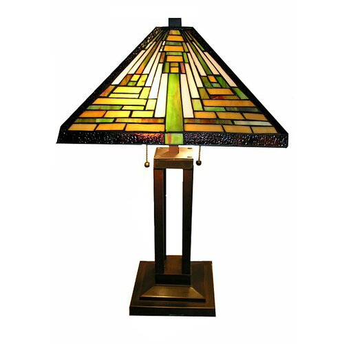 """Warehouse of Tiffany Mission 23"""" H Hand-Cut Table Lamp"""