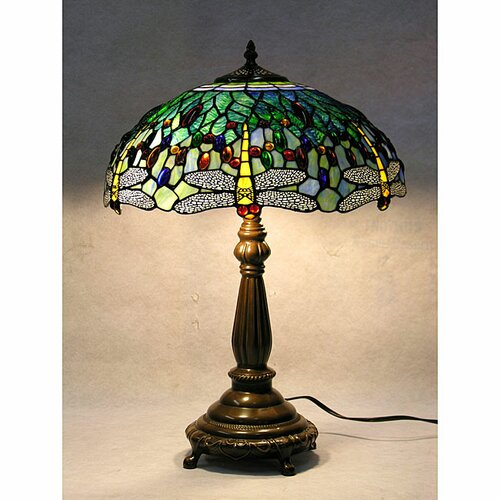 Warehouse of Tiffany Dragonfly Table Lamp with Hand-Cut Bowl Shade