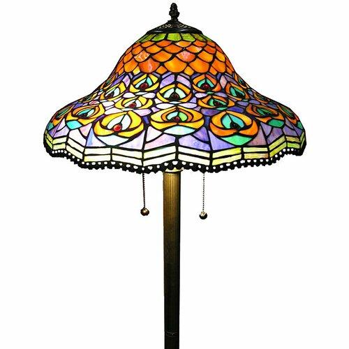 Warehouse of Tiffany Peacock Floor Lamp