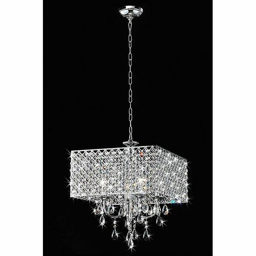 of tiffany 4 light square crystal chandelier reviews wayfair