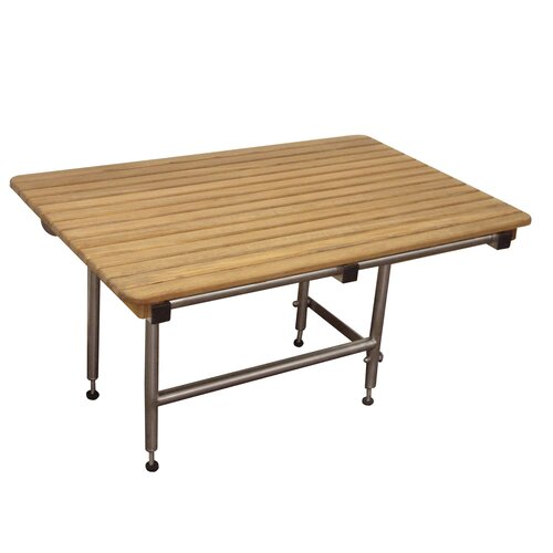 Teakworks4u Teak Shower Transfer Bench/Seat with Legs