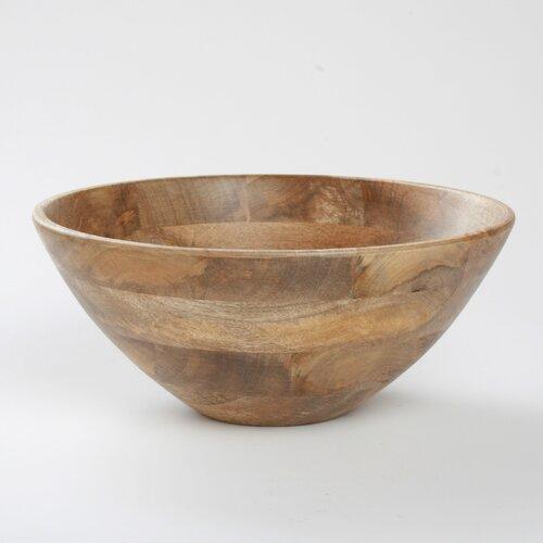 """TAG Malaya Deep Wooden 13.25"""" Serving Bowl"""