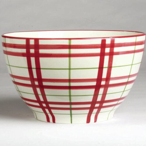 "TAG Nordic Plaid 10"" Serving Bowl"