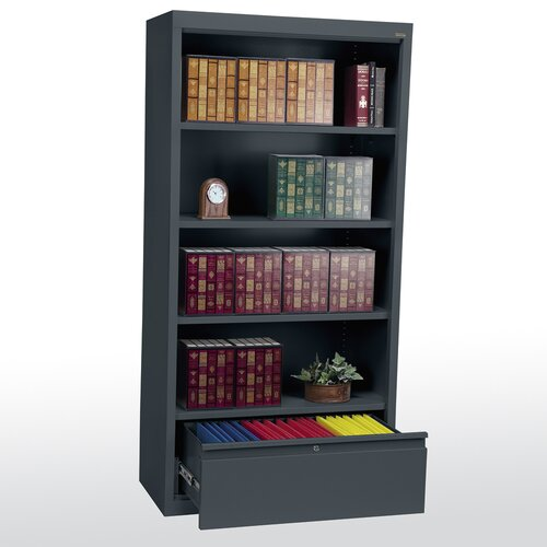 "Sandusky Cabinets 72"" Bookcase with File Drawer"