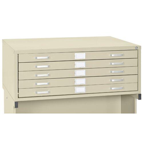 Sandusky Cabinets Flat Files 5 Drawer Filing Cabinet