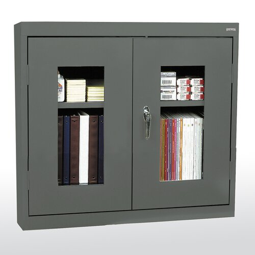 """Sandusky Cabinets Clear View 30"""" Double Door Wall Storage Cabinet"""