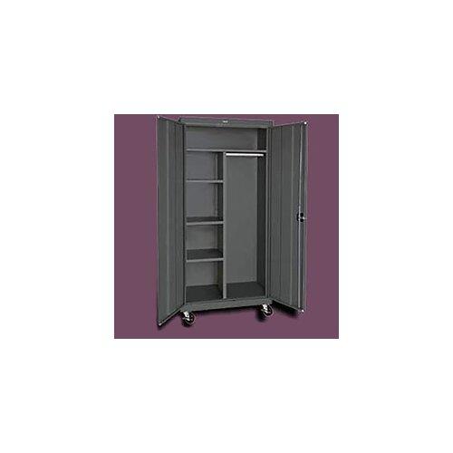 "Sandusky Cabinets Transport 36"" Mobile Combination Wardrobe Cabinet"