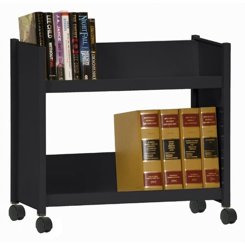Sandusky Cabinets Sloped-Shelf Mobile Book Truck