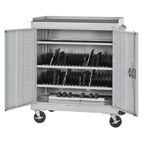 Sandusky Cabinets 40-Compartment Mobile Tablet Storage Cart