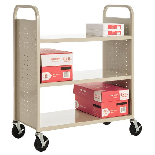 Sandusky Cabinets Flat Shelf Mobile Booktruck