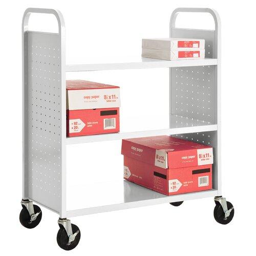 Sandusky Cabinets Flat Shelf Mobile Booktruck