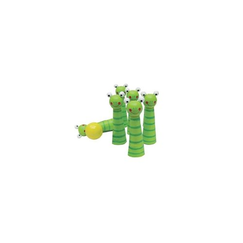 Sassafras Kid's Frog Bowling Pin Game Set